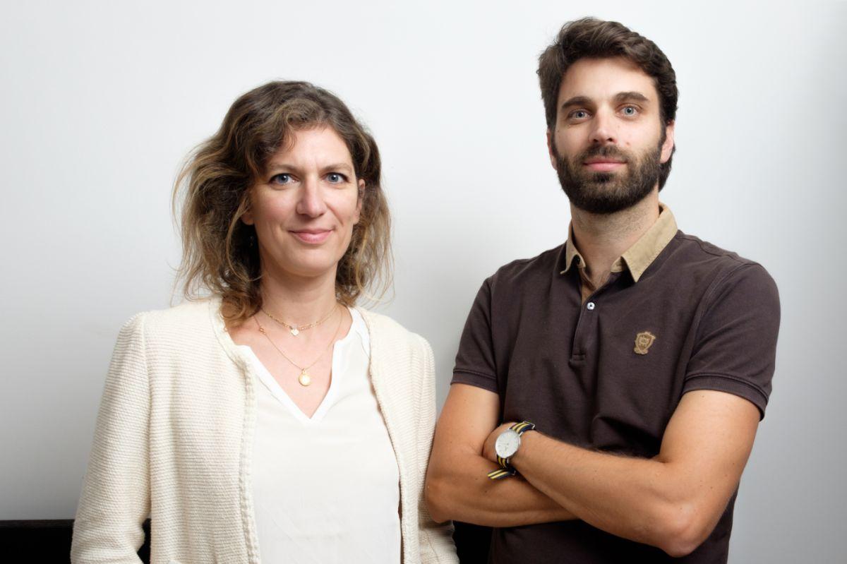 L equipe d Audiologie Demain Ludivine Aubin Karpinski directrice des redactions et Bruno Scala redacteur en chef