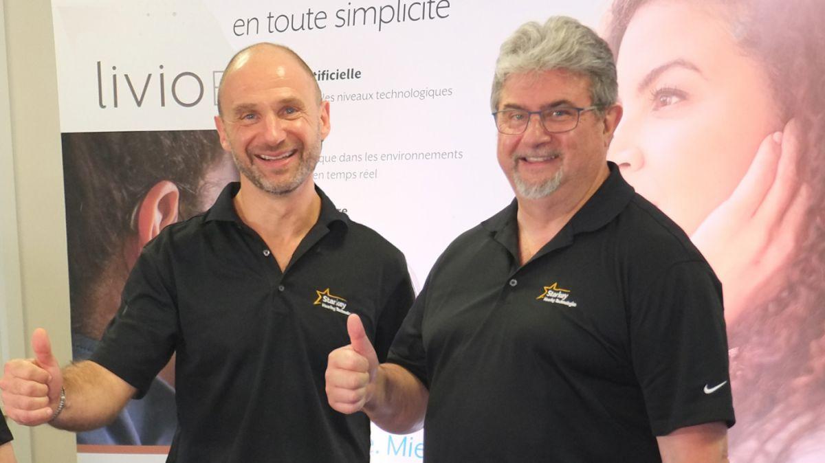 Fabrice Vigneron et Thierry Daudignon Starkey France