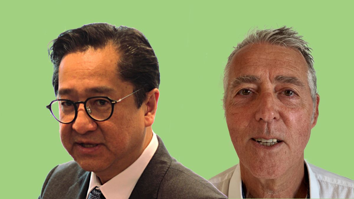 Hung Thai Van et Francois Dejean de la Societe francaise d audiologie