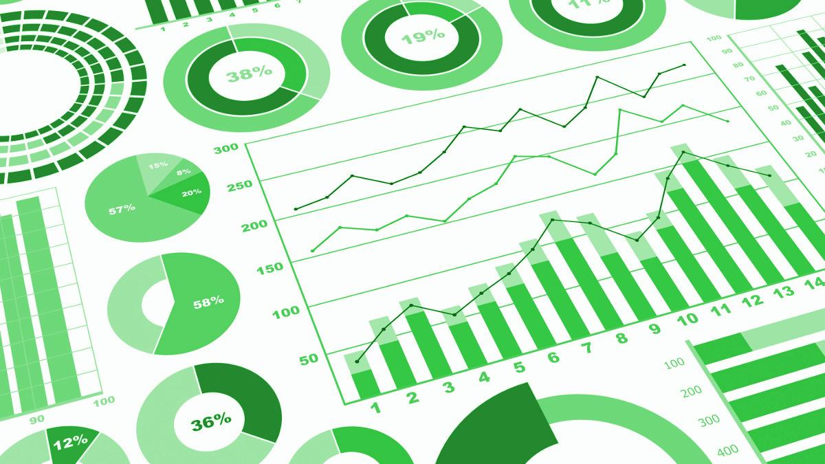 chiffres graphes vert